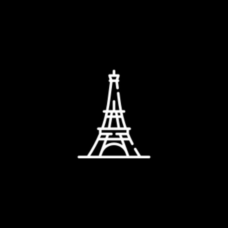 Französisch Schwarz